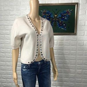 Marc Jacobs Jeweled Short sleeve Cardigan L